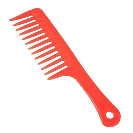 AFfeco 2pcs ancho peines de dientes cuidado del cabello peluquería estilismo cepillo de pelo Barber herramienta: Amazon.es: Belleza