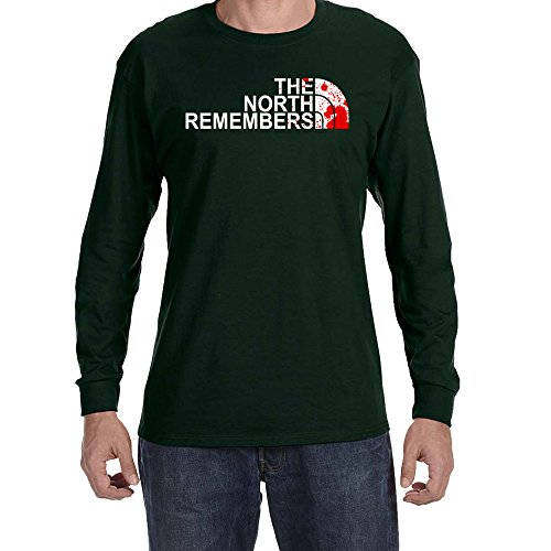 The North Remembers Long Sleeve T-shirt (Forest Green, Small)