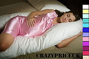 CRAZYPRICEUK 9FT U/V SHAPE BODY MATERNITY/PREGNANCY PILLOW CASE (VARIOUS COLOURS AVAILABLE) (Red)