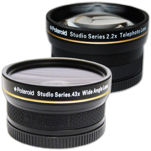 Polaroid Studio Series 52/55/58mm .43x HD Wide Angle Lens +