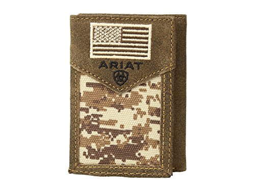 Ariat Unisex-Adult's Patriot Digital Camo Trifold Wallet, -