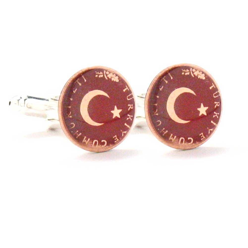Turkey Coin Cufflinks Cuff Links Flag Turkish Turk Government Military Istanbul Antalya Pamukkale Türkiye Kol dü?meleri tak? Ankara Izmir