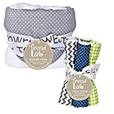 Best Trend Lab Towel Sets - Perfectly Navy Gray Dot Hooded Towel and Wash Review