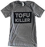 The Bold Banana's Men's Vegetarian Parody Tofu Killer T-shirt - M - Heather Grey