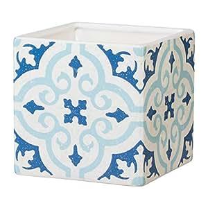 Cerámica Maceta cuadrado Tiles cerámica 12,5x 12,5x 12,5cm
