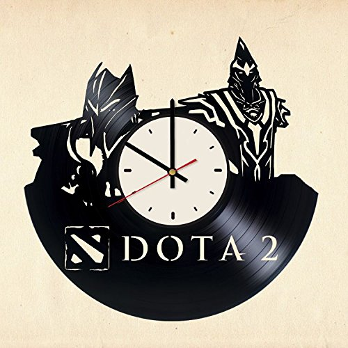 Dota 2 Vinyl Wall Clock Gamer Unique Gifts Living Room Home Decor