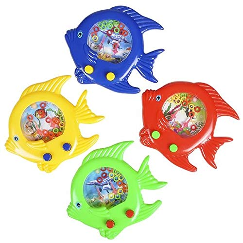 Rhode Island Novelty Fish Handheld Water Ring Games | Set of 12 -