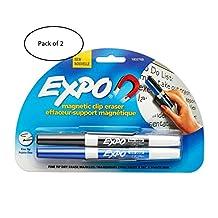 Expo Magnetic Eraser and Dry Erase Marker Holder (Pack of 2)