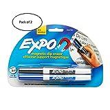 dry mount board - EXPO Magnetic Clip Eraser w/2 Markers, Fine, Black/Blue, 1 Set