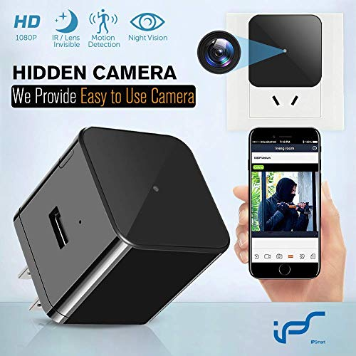 Hidden Camera WiFi Wall Charger Spy Cam Plug with Night Vision Spy USB Camera 1080P Hidden Wireless with Motion Detection for iOS and Android Phone