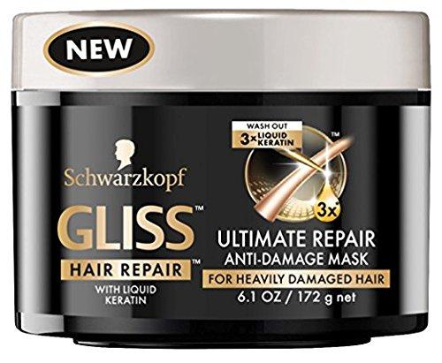 Gliss Mask Ultimate Repair Anti-Damage 6.1 Ounce Jar (180ml)