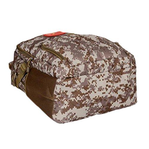 Mochila 36L Militares estilo camuflaje Asalto paquete Alta capacidad Ocio ligero Mochila al aire libre , desert digital desert digital