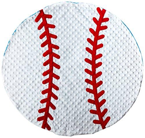 Mud Pie Baby Boy Soft Sports Minky Baseball Blanket - Crib Decoration For Boys