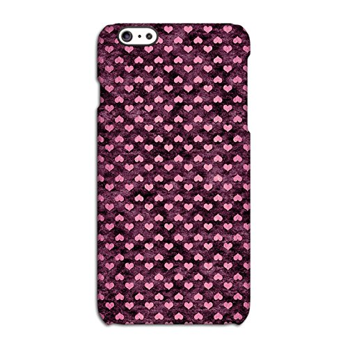 Burgundy with Pink Hearts Deflector Back Case for Apple iPhone 6 6S Plus