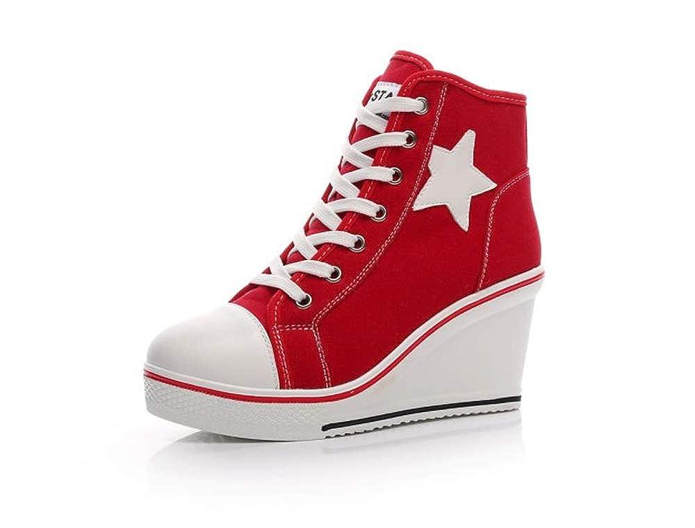 Fancyww Unisex Fashion LED Light Shoes lace up Sneakers