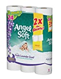 Angel Soft Toilet Paper, Lavender Scent, Bath Tissue, 12 Double Rolls