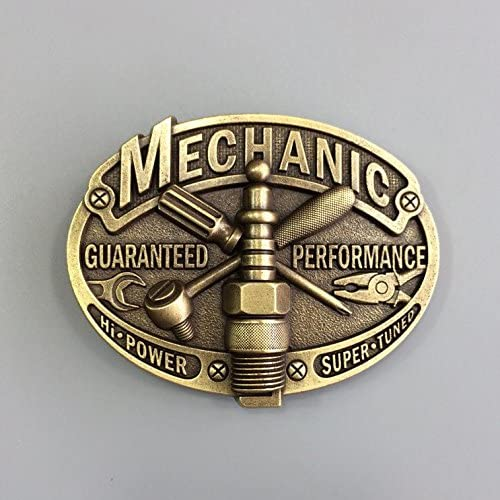 Vintage Bronze Plated Mechanic Trades Tradesman Belt Buckle also Stock in US