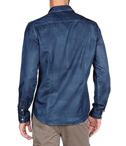 NAPAPIJRI GUATY Dull Blue Herrenhemd