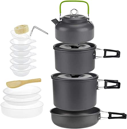 Kit de Utensilios de Cocina para Acampar al Aire Libre, 4-5 ...