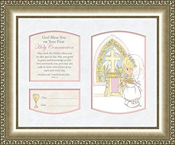Communion Girl Plaque - Precious Moments Holy Communion Poem Plaque for Girl Personalize John 6:35
