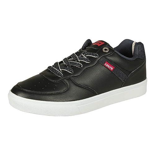 Levis Hombre Sneaker Jeffrey Denim negri: Amazon.es: Zapatos y complementos