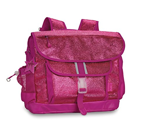 Bixbee Sparkalicious Glitter Backpack - Large - Ruby Raspberry