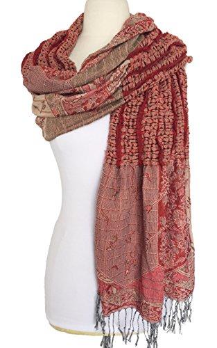 Women Fashion Soft Warm Ruched Pashmina Shawl Fringe Scarf (Ruched Shawl)