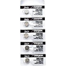 5 x Energizer 395 Watch Batteries, 1.55V, equivalent SR927W, 399, SR927SW