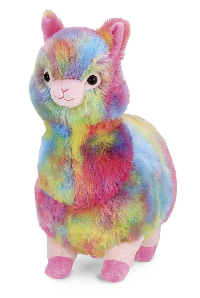 Bearington Annabelle Plush Stuffed Animal Rainbow Alpaca, 12 inches by Bearington Collection