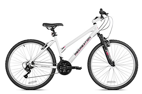 "Recreation Women's 26M Mountain Bike, White, 15""/Small"