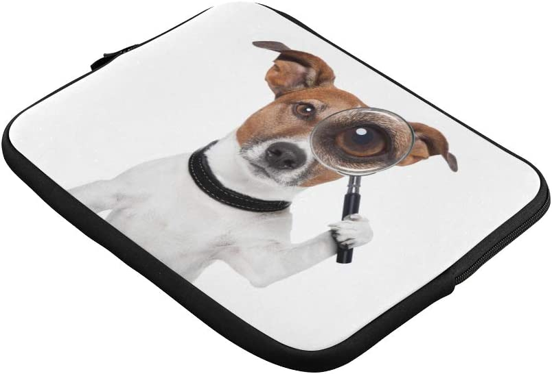 Unique Custom Dog with Magnifying Glass Print Laptop Organizer Case Soft Mens Briefcases Briefcase Protective for MacBook Air 11