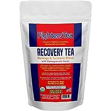 Fighters Tea Herbal Tea Organic - Moringa Tea bags with Turmeric - Our organic moringa oleifera tea is sugar free tea Caffeine free Gluten Free Tea All Natural tea USDA Certified
