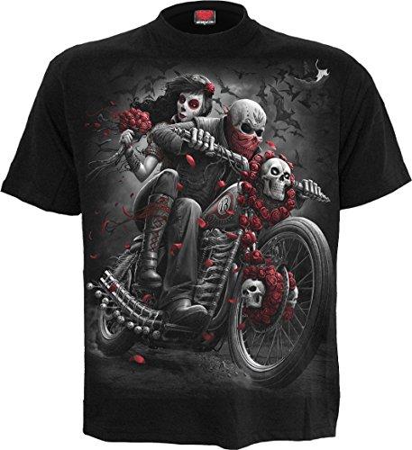 Spiral - Mens - DOTD Bikers - T-Shirt Black - XL (Mens Gothic Biker Clothes)