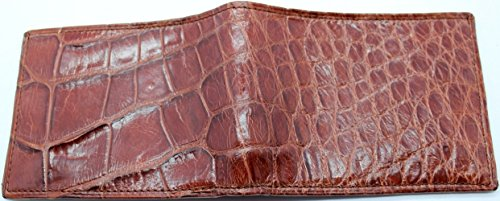 Genuine Alligator Slim Bi-fold Wallet – Factory Direct – Gift Box - Billfold Bifold Money Holder - Made in USA by Real Leather Creations DCRI1 by Real Leather Creations (Image #1)