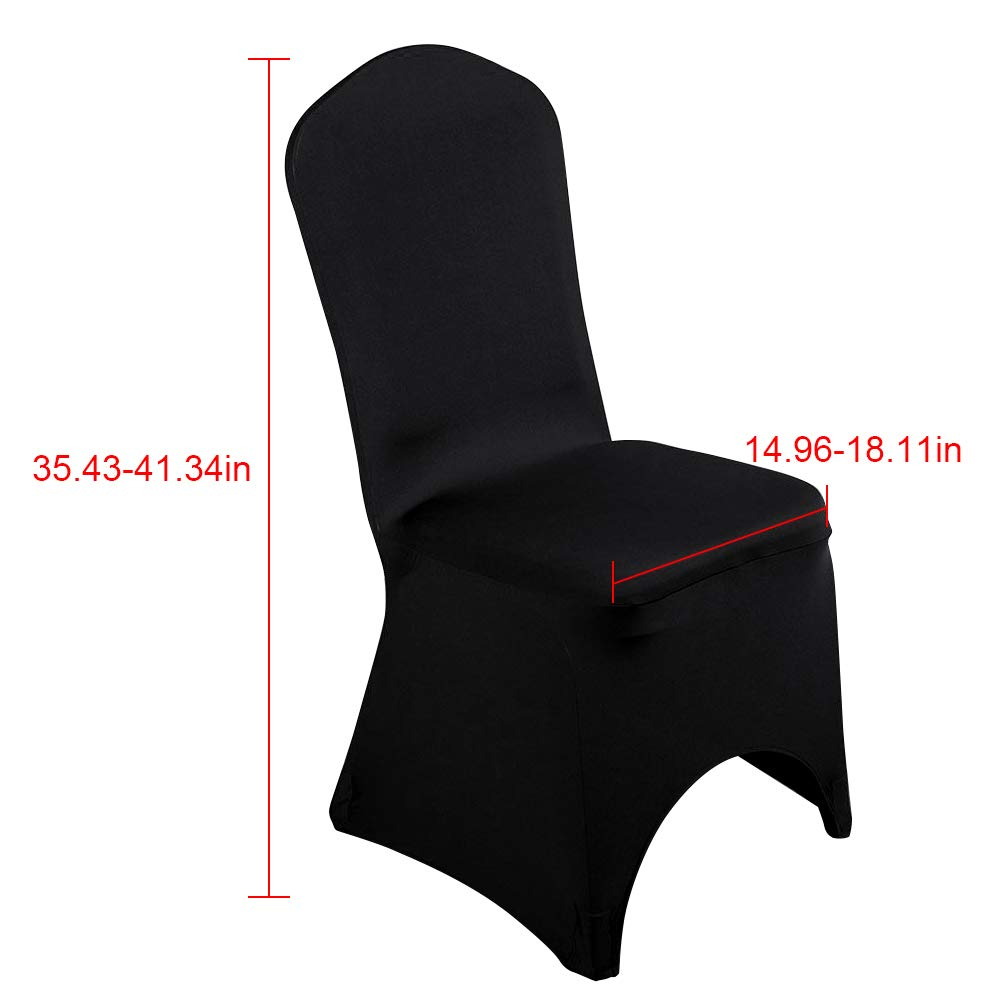 Black//Arched Front, 1 Desirable Life 1//10//20//50//100pcs Universal Spandex Stretch Banquet Wedding Party Dining Chair Covers
