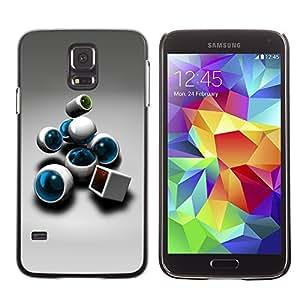 DesignCase Premium Slim PC / Aluminium Case Cover Armor Shell - Abstract - Samsung Galaxy S5