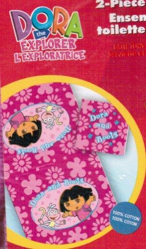 Dora the Explorer 2-piece Bath / Beach Towel Set - Flower - The Towels Explorer Dora