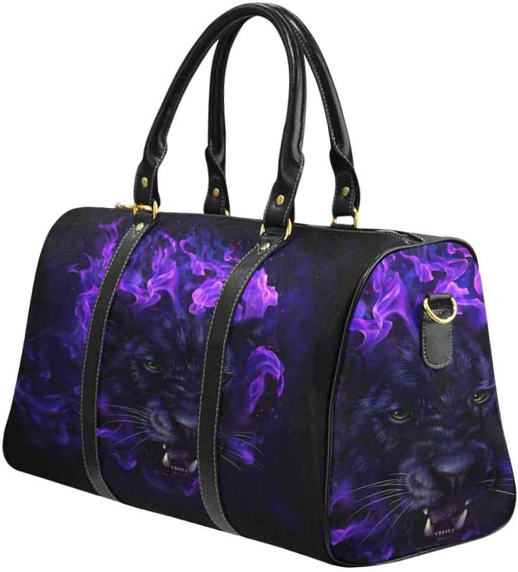 Flight Bag Gym Bag Panther Art InterestPrint Large Duffel Bag