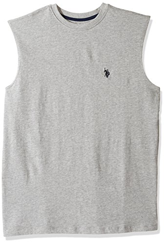U.S. Polo Assn. Mens Classic Muscle T-Shirt, 6411-Heather Grey, L (T-shirt United Classic)