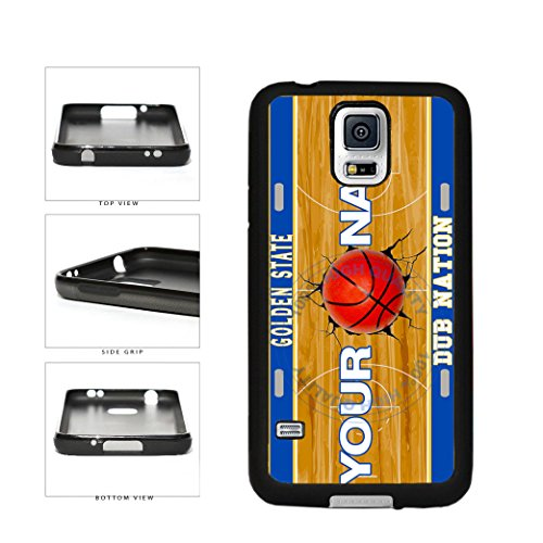 BleuReign(TM) Personalized Dub Nation Custom Name Basketball Team Golden State License Plate TPU RUBBER SILICONE Phone Case Back Cover For Samsung Galaxy S5