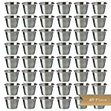 Set of 48 - TrueCraftware Stainless Steel, Individual Condiment Sauce Cup - 2 1/2 oz
