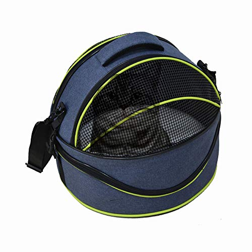 Micho Portable Cat Travel Shoulder Bag, Comfortable 2-in-1 Pet Kennel Carrier, Mesh Window Ventilated Design & Adjustable Shoulder Straps for Cars, Perfect for Cats and Small Dogs