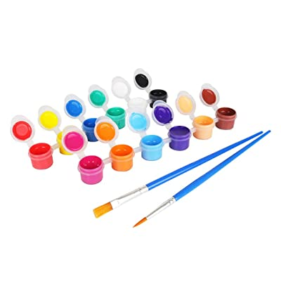 RUZYY Finger Painting Paints,2ml 12 Vibrant Colors Washable Gouache Paint for Kids School Finger Paint: Home & Kitchen