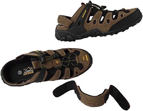 Herren Outdoorsandale Schuhe Trekking Sandale Gr.41 - 46 Art.-Nr.5337 braun