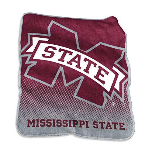 Logo Brands NCAA Mississippi State Bulldogs Unisex Raschel Throwraschel Throw, Maroon, -