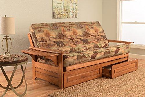 (Kodiak Furniture KFPHDBBCANLF5MD4 Futon Set, Barbados)