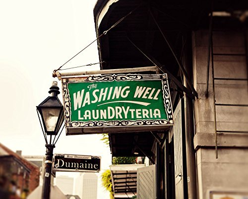 Fine Art Photography New Orleans - Washing Well Laundryteria Vintage Sign Photography Large Wall Art Decor New Orleans Fine Art Photography Print Laundry Room Art Travel Photography Art