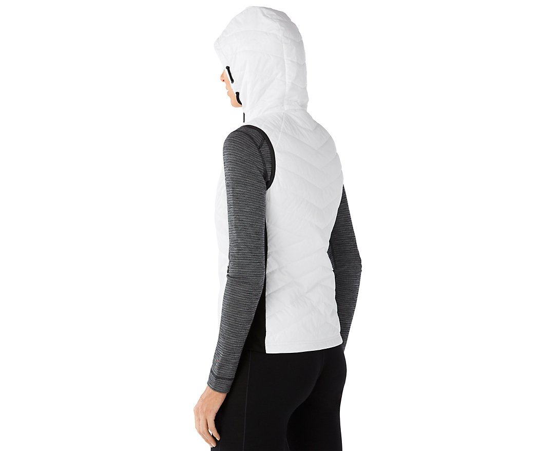 Smartwool Women's Double Propulsion 60 Hooded Vest (Black/White) Medium by SmartWool (Image #2)