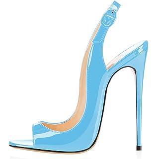 18a9b431cf0 elashe Femmes Artisan Fashion Sandales Décolletés Bout Ouverts Chaussures à  Talon Haut de 120mm