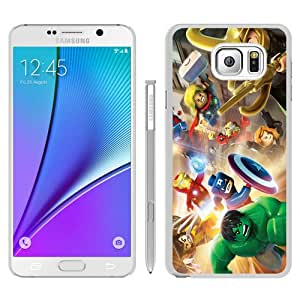 Fashionable Note 5 Case,LEGO Marvel Super Heroes White Phone Case For Samsung Galaxy Note 5 Case